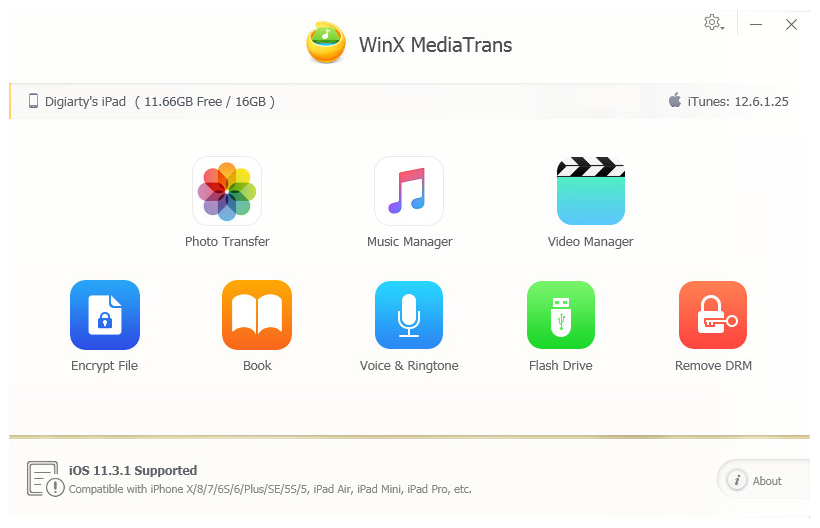 WinX MediaTrans Screenshot