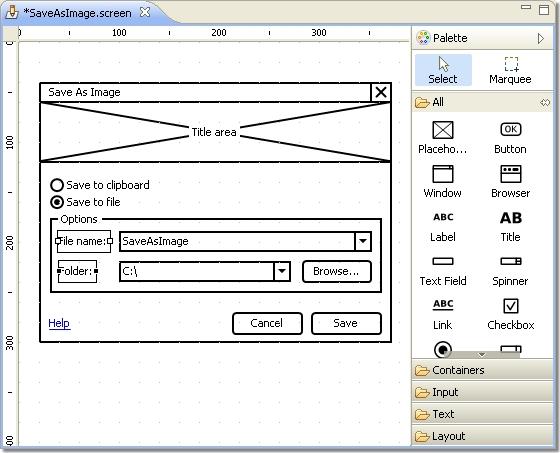 WireframeSketcher, Website Builder Software Screenshot