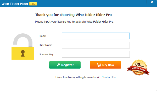 Wise Folder Hider Pro Screenshot