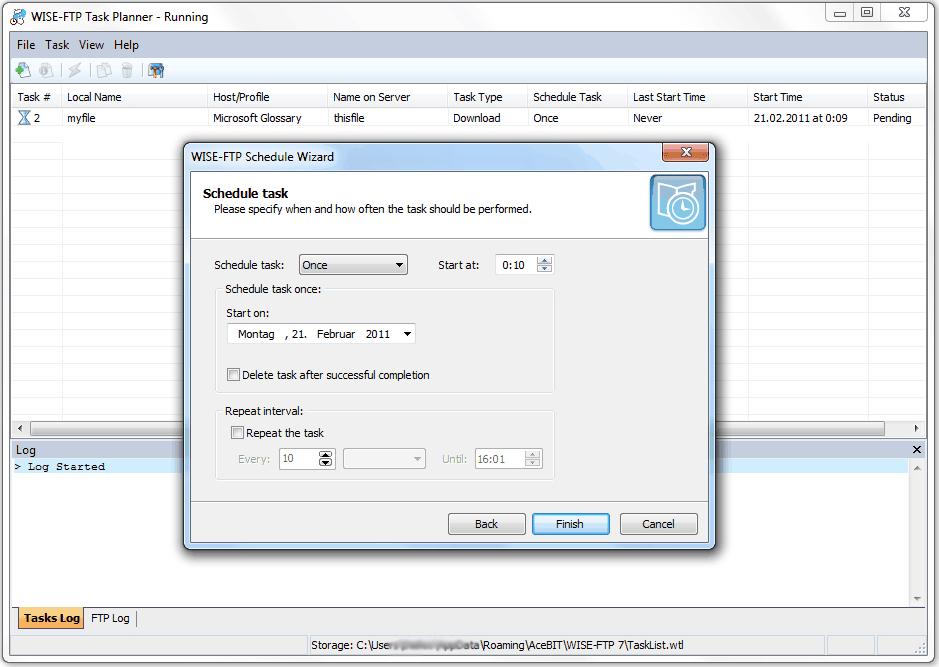 Internet Software, WISE-FTP Screenshot