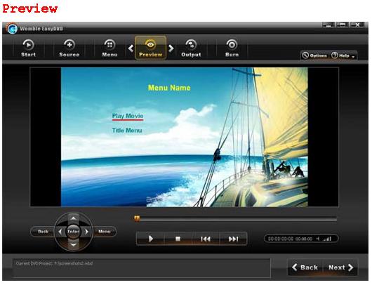 Video Software, Womble EasyDVD Screenshot
