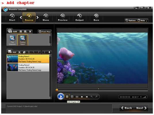 Womble EasyDVD, Video Software Screenshot