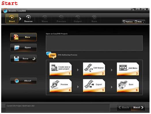 Womble EasyDVD Screenshot
