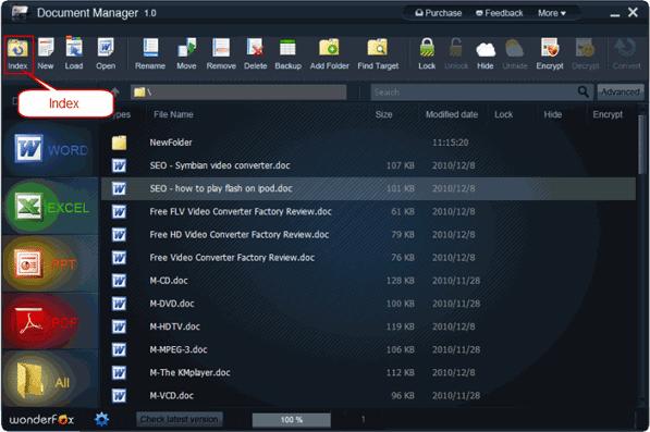 WonderFox Document Manager, Document Management Software Screenshot