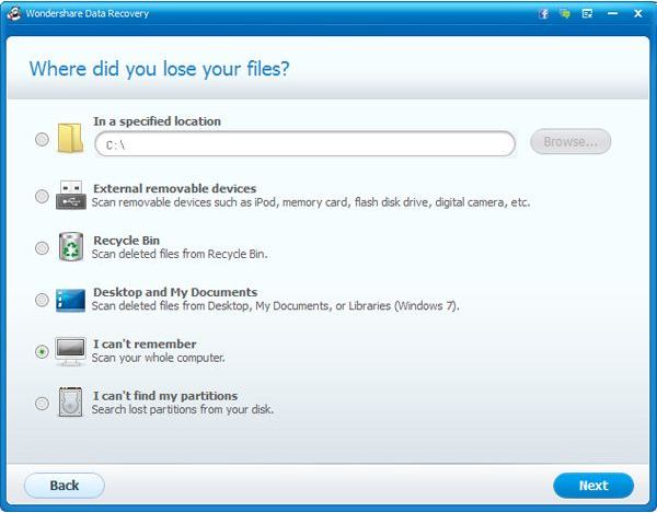 Wondershare Data Recovery for Mac, Backup and Restore Software Screenshot