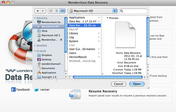 Wondershare Data Recovery for Mac Screenshot 9
