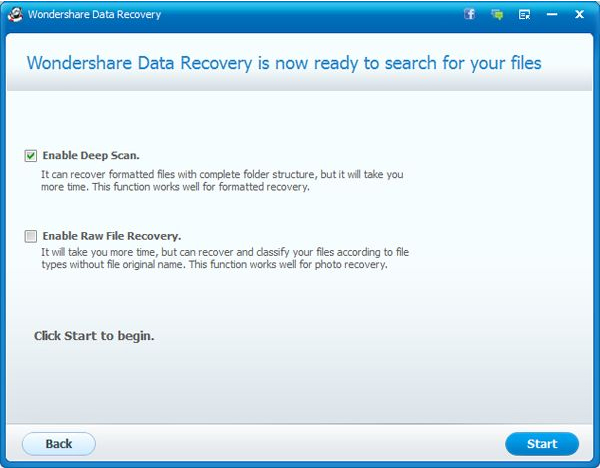 Wondershare Data Recovery for Mac, Security Software Screenshot