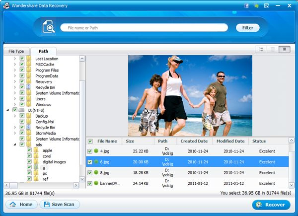 Security Software, Wondershare Data Recovery for Mac Screenshot