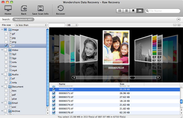 Wondershare Data Recovery for Mac, Security Software, Backup and Restore Software Screenshot