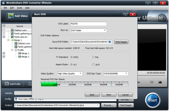 Video Software, Wondershare DVD Converter Ultimate Screenshot