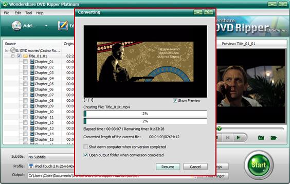 Wondershare DVD Ripper Platinum, DVD Ripper Software Screenshot