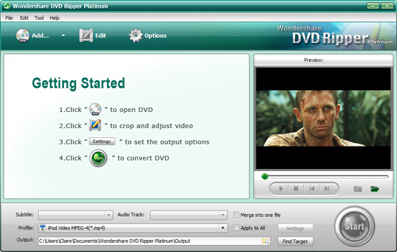 Wondershare DVD Ripper Platinum Screenshot