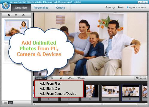 Wondershare DVD Slideshow Builder Standard Screenshot