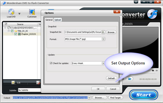 Wondershare DVD to Flash Converter, Video Software Screenshot
