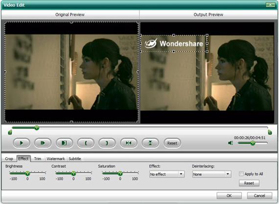 Video Software, Wondershare HD Video Converter Screenshot