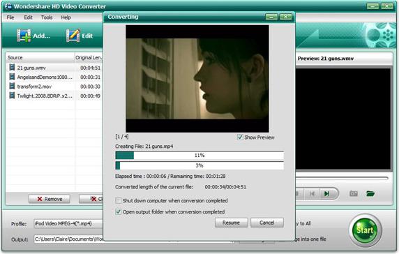 Wondershare HD Video Converter, DVD Ripper Software Screenshot