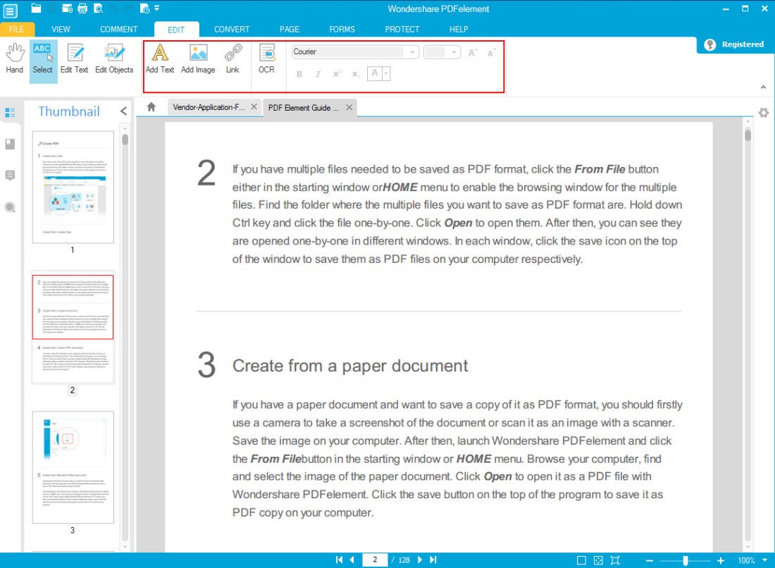 Wondershare PDFelement + OCR Plugin (Personal License), PDF Utilities Software Screenshot