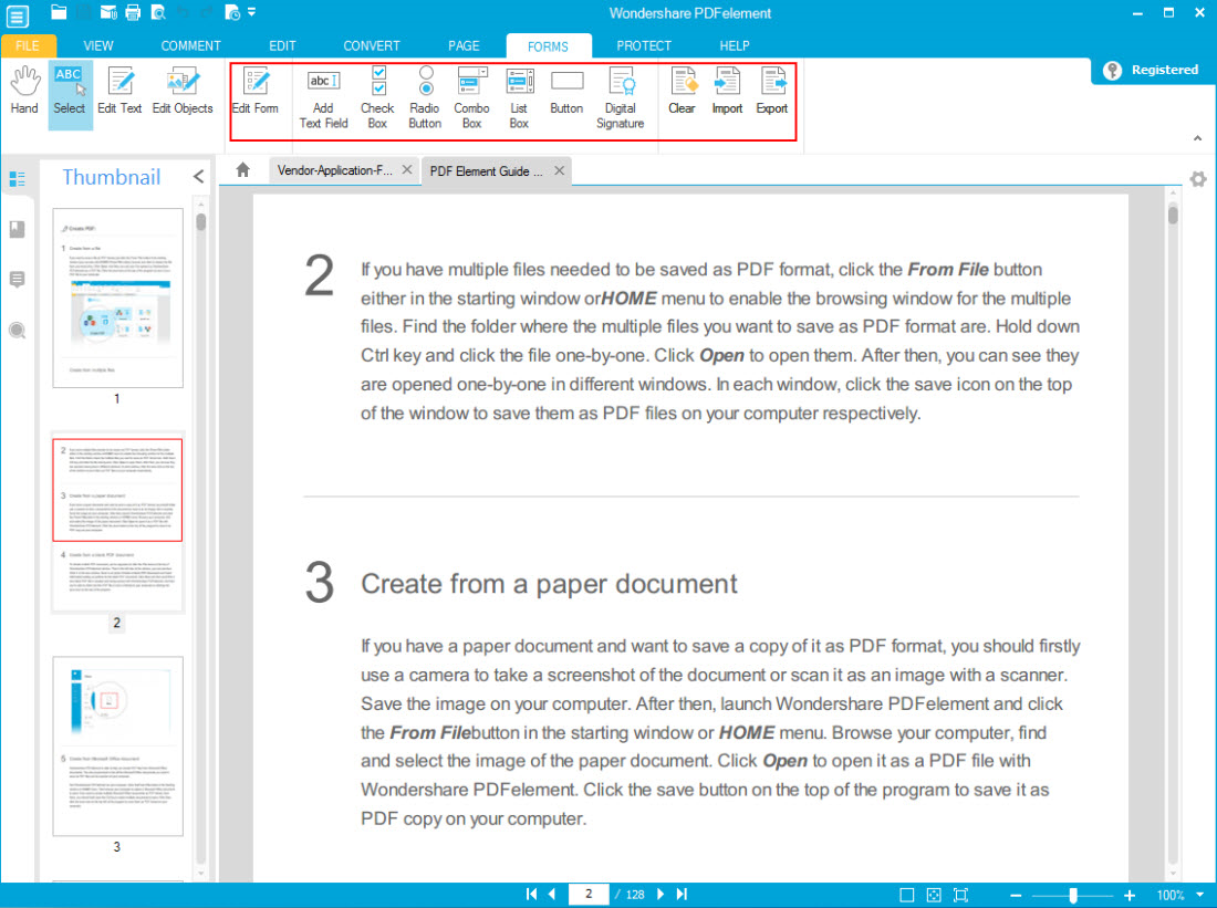 Wondershare PDFelement + OCR Plugin (Personal License), Business & Finance Software Screenshot