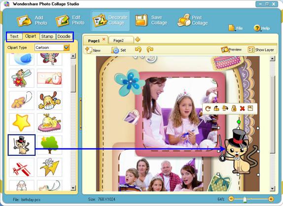 Photo Collage Studio ComboPack, Misc & Fun Graphics Software Screenshot