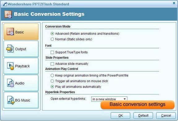Wondershare PPT2Flash Standard, Educational Software Screenshot