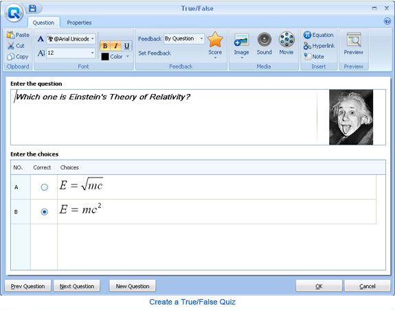 Wondershare QuizCreator, Educational Software Screenshot