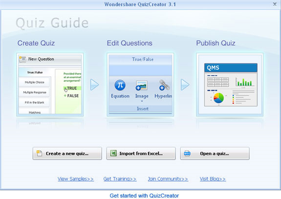 Wondershare QuizCreator Screenshot