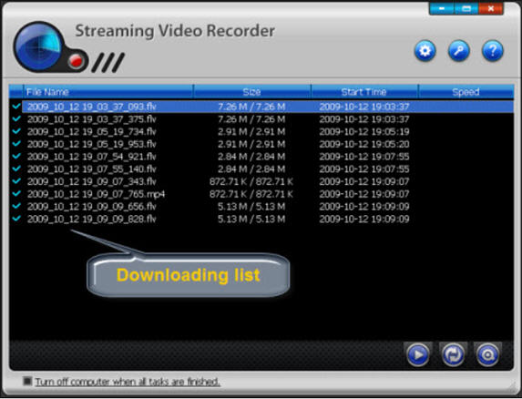 Wondershare Streaming Video Recorder Screenshot
