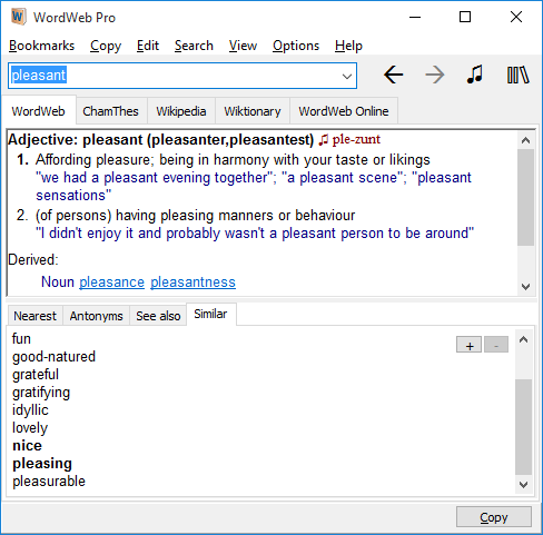 WordWeb Pro Bundle Screenshot