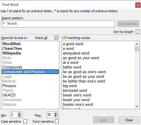 Reference Software, WordWeb Pro Bundle Screenshot