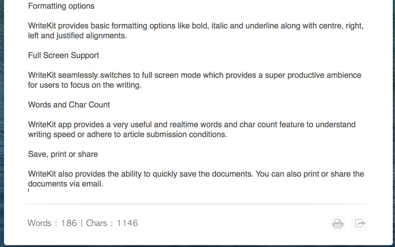 WriteKit, Writing and Journaling Software Screenshot
