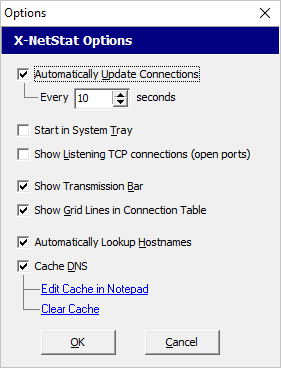 X-NetStat Lite, Network Software Screenshot