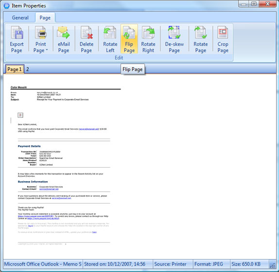 X2Net OneStore, Backup Cloud Software Screenshot