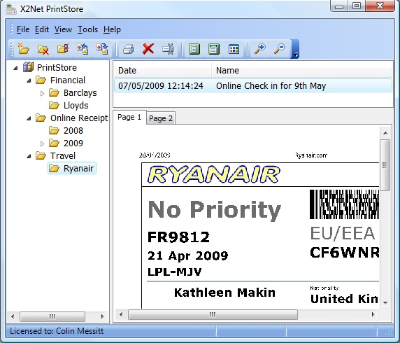 X2Net PrintStore Screenshot