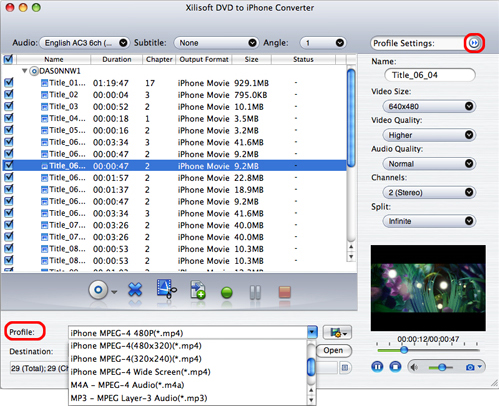 Xilisoft iPhone Software Suite for Mac, Video Converter Software Screenshot