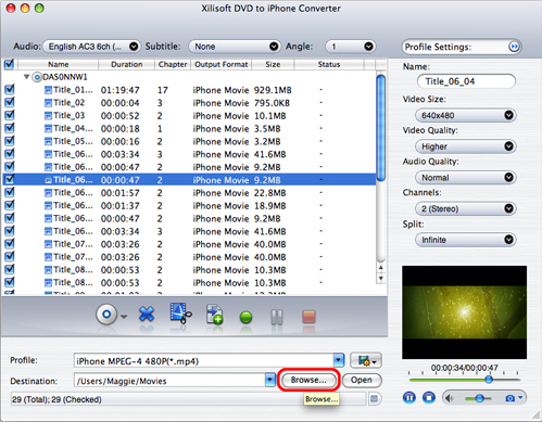 Xilisoft iPhone Software Suite for Mac, Video Software Screenshot