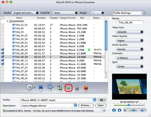 Video Converter Software, Xilisoft iPhone Software Suite for Mac Screenshot