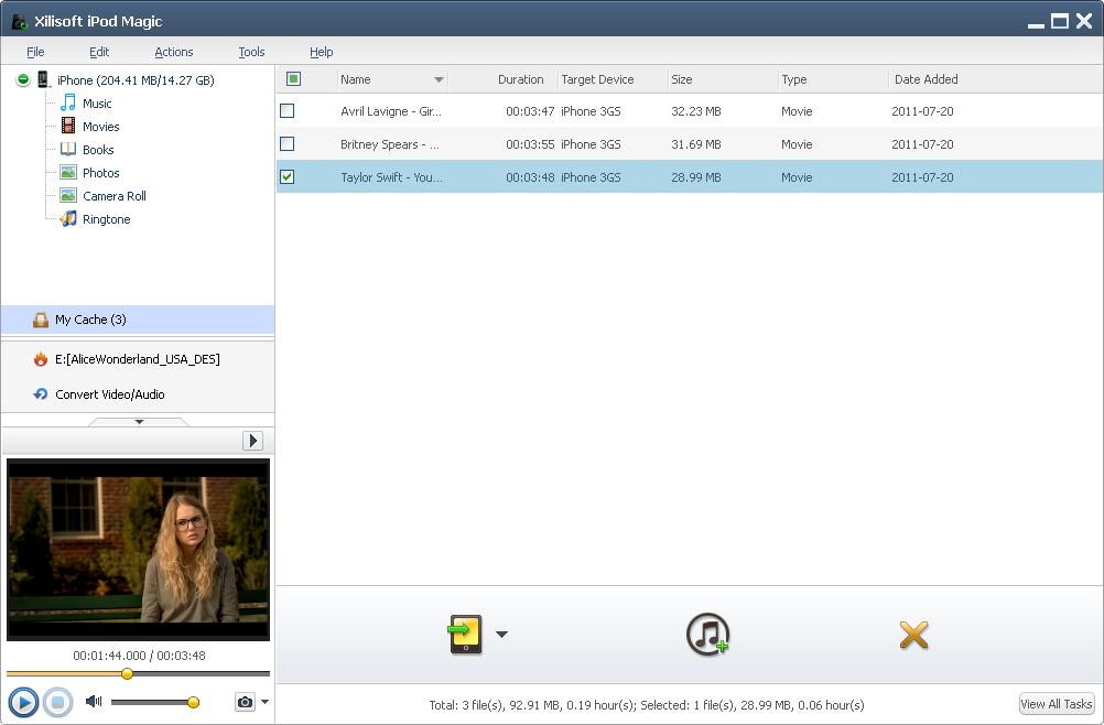 iPod iPhone iTunes Software Screenshot