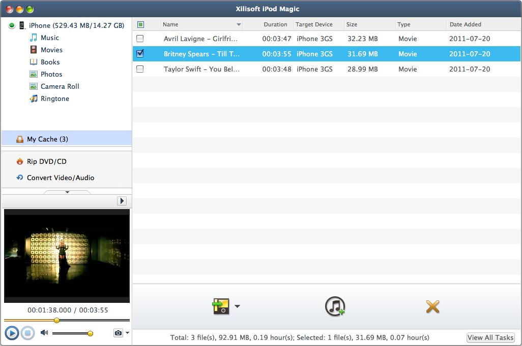 Audio Software, Xilisoft iPod Magic Screenshot