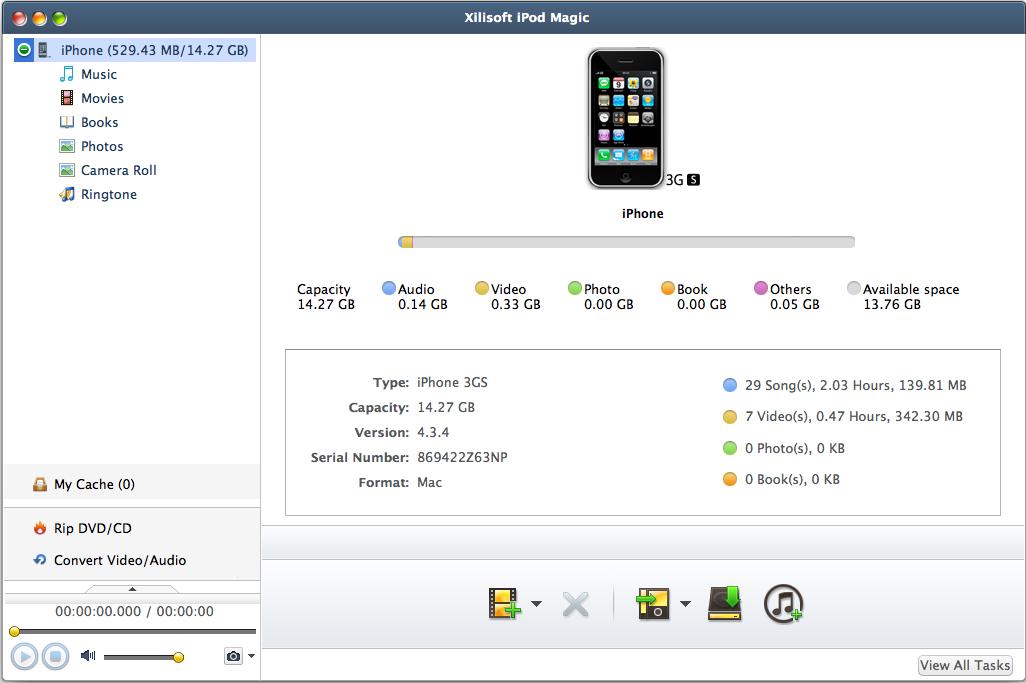 iPod iPhone iTunes Software, Xilisoft iPod Magic Screenshot