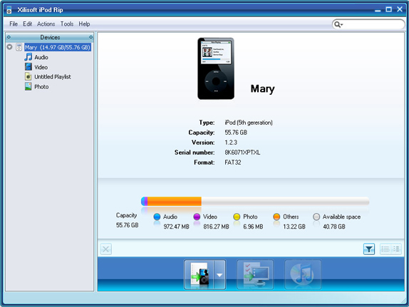 Xilisoft iPod Mate Screenshot