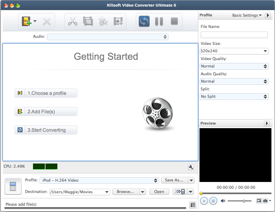 Xilisoft Video Converter Ultimate Screenshot