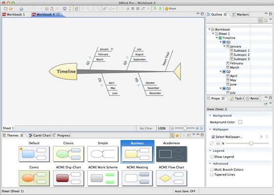 XMind Pro 2013, Mind Mapping Software Screenshot