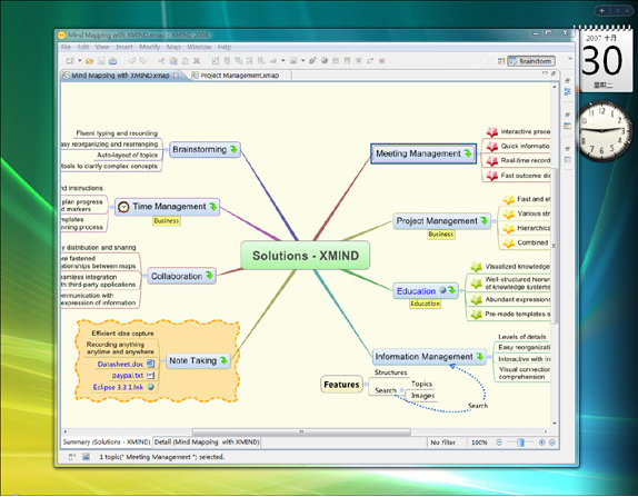 XMIND, Mind Mapping Software Screenshot