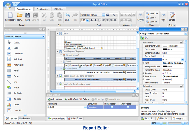 XtraBuild Designer, Development Tools Software Screenshot