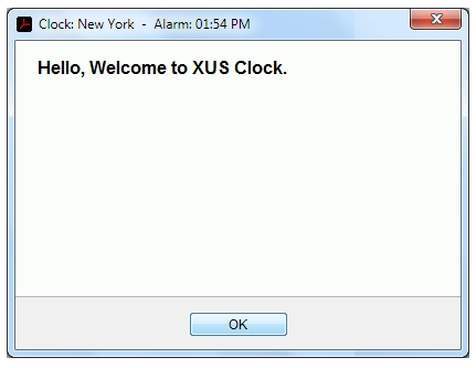 XUS Clock, Desktop Customization Software Screenshot