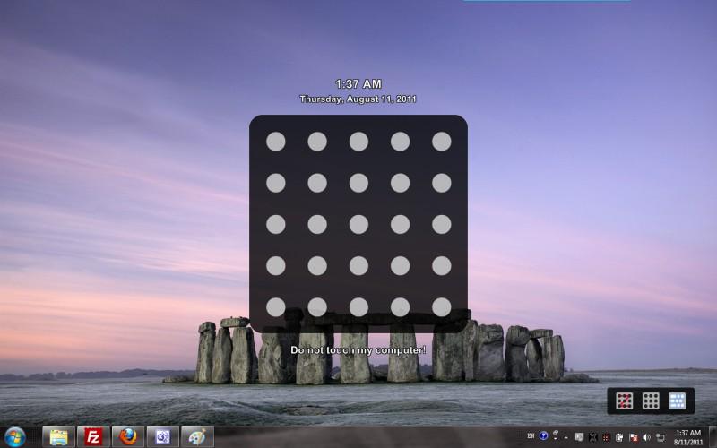XUS PC Lock, Privacy Software Screenshot