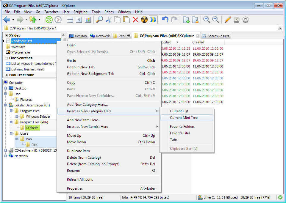 Software Utilities, XYplorer Lifetime License Pro Screenshot