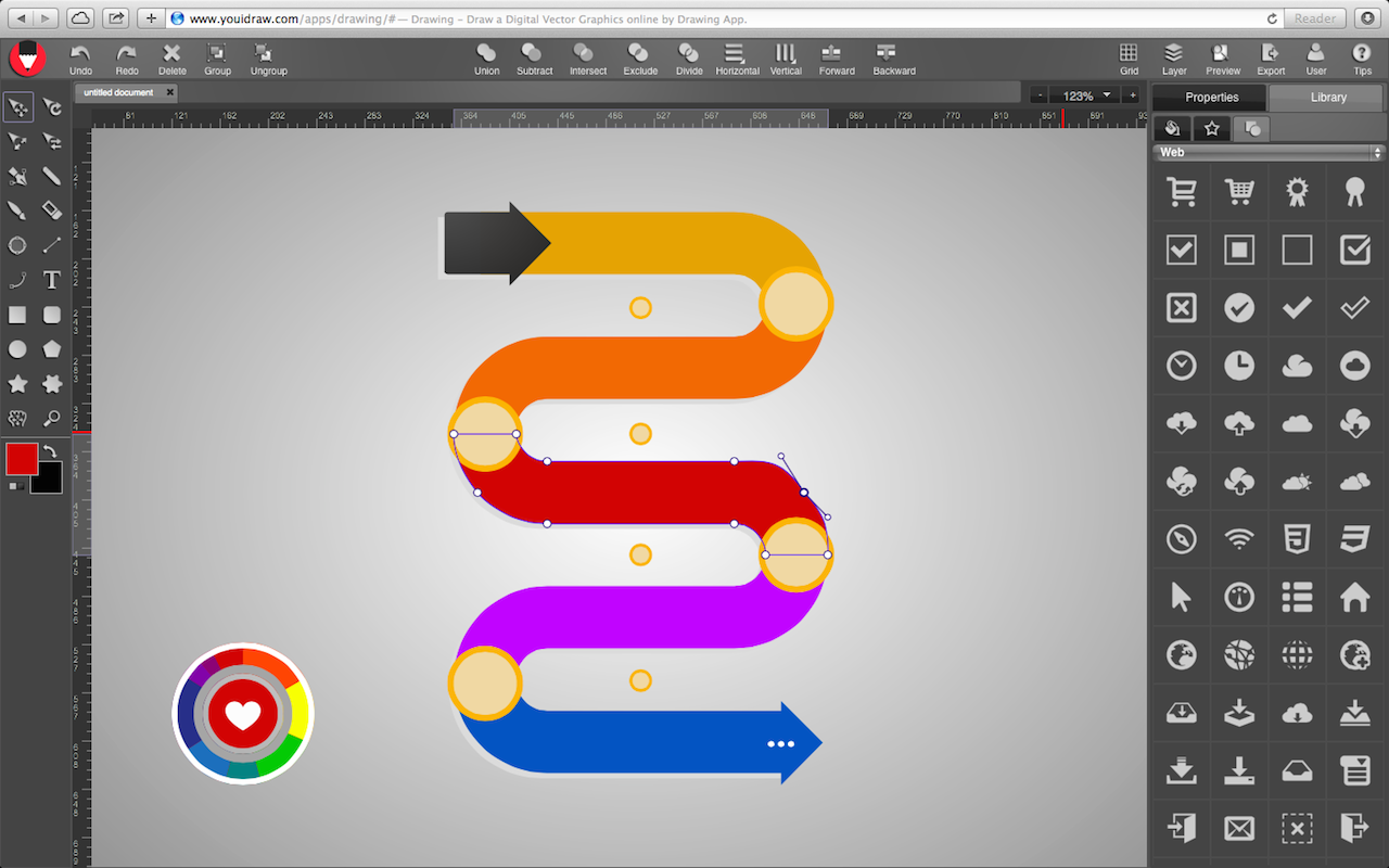 YouiDraw, Graphic Design Software Screenshot