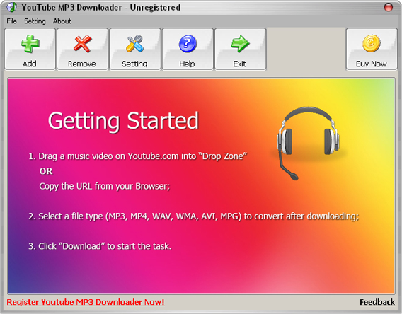 YouTube Downloader Software Screenshot