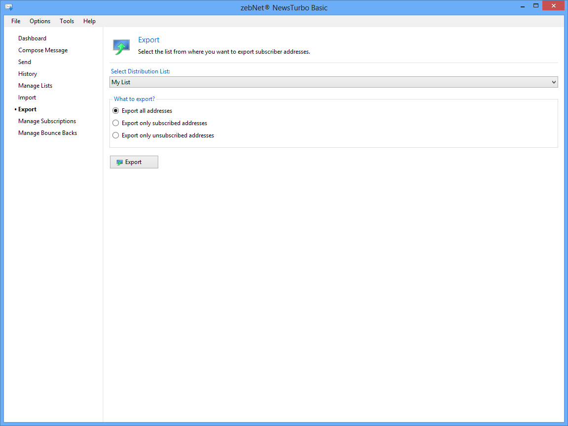 Internet Software, Bulk Mailer Software Screenshot